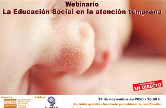 Webinario: La educación social en la atención temprana