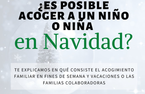 Es posible acoger a un niño o niña en Navidad